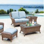 Light-Colored Wicker Patio Furniture
