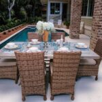 Set of wicker outdoor furniture