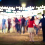 People walking in Festival Event Party outdoor background
