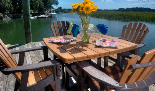 Outdoor Furniture Recycled Plastic Vs Steel Palm Casual